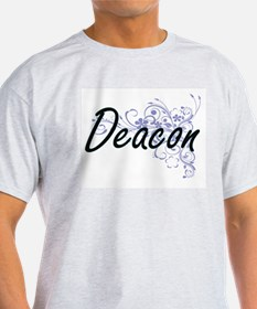 Deacon Artistic Job Design with Flowers T-Shirt