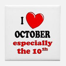 October 10th Tile Coaster