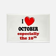 October 10th Rectangle Magnet