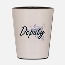 Deputy Artistic Job Design with Flowers Shot Glass