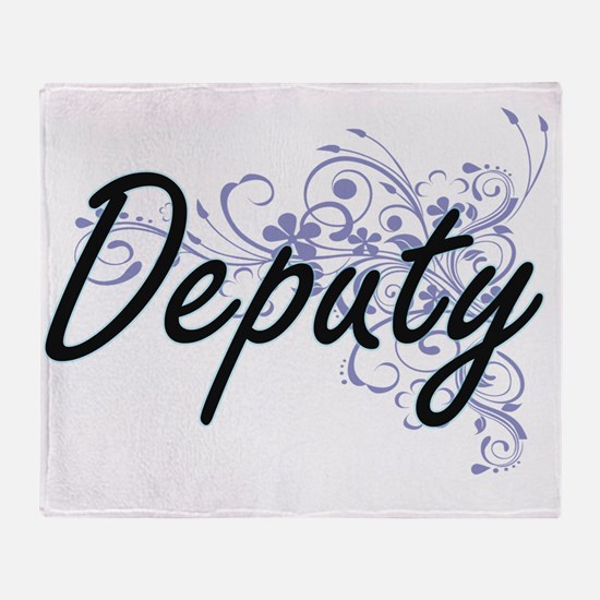 Deputy Artistic Job Design with Flow Throw Blanket
