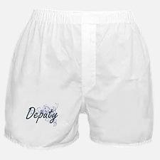Deputy Artistic Job Design with Flowe Boxer Shorts