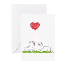 Cute Cardigan welsh corgi Greeting Cards (Pk of 20)