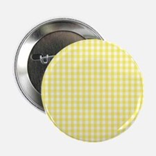 """Yellow White Gingham Plaid 2.25"""" Button (10 pack)"""