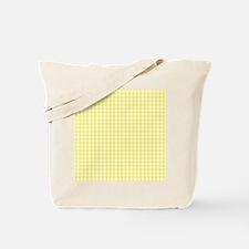 Yellow White Gingham Plaid Tote Bag