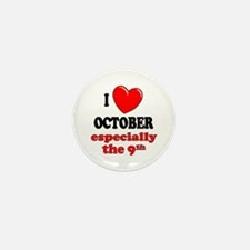October 9th Mini Button (10 pack)