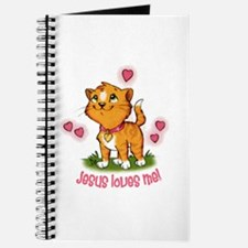 Jesus Loves Me Kitten Journal