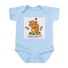Jesus Loves Me Kitten Infant Bodysuit