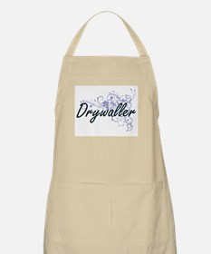 Drywaller Artistic Job Design with Flowers Apron