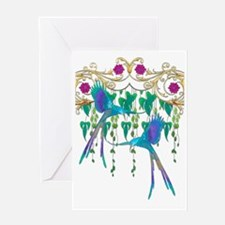 Blue Quetzal Birds Greeting Cards