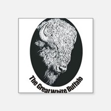 "Unique Buffalo bulls Square Sticker 3"" x 3"""