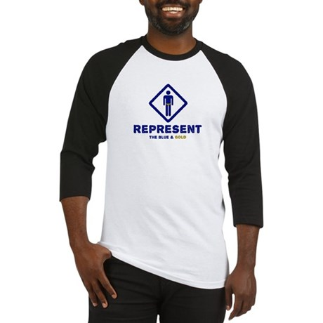 Represent Blue and Gold Baseball Jersey