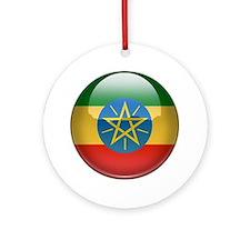 Ethiopia Flag Jewel Ornament (Round)