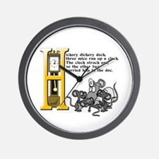 Hickory Dickory Dock Wall Clock