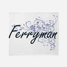 Ferryman Artistic Job Design with Fl Throw Blanket