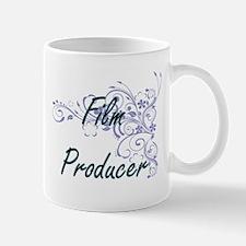 Film Producer Artistic Job Design with Flower Mugs