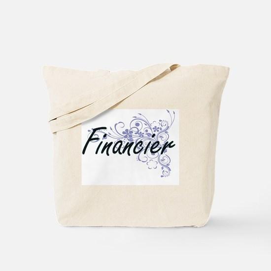Financier Artistic Job Design with Flower Tote Bag