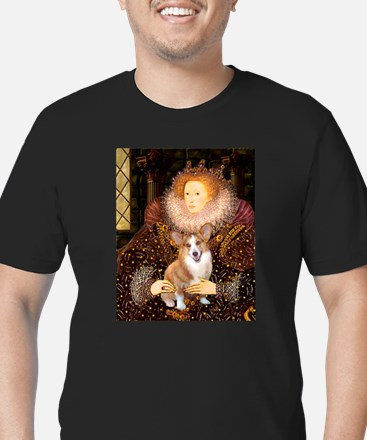 Unique Corgi dog Men's Fitted T-Shirt (dark)