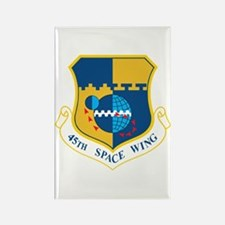 45th Space Wing Crest Rectangle Magnet