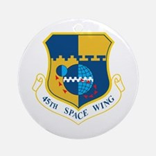45th Space Wing Crest Round Ornament