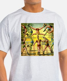 Vintage Circus Acrobatic Athletes T-Shirt