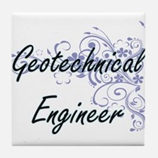 Geotechnical Engineer Artistic Job De Tile Coaster