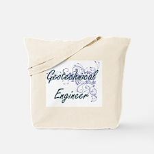 Geotechnical Engineer Artistic Job Design Tote Bag