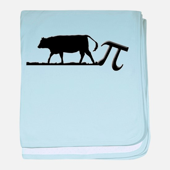 Cow Pie baby blanket