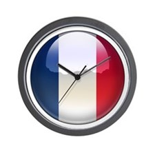 France Flag Jewel Wall Clock
