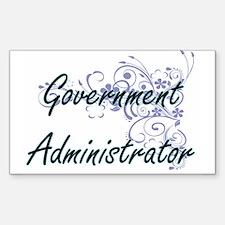 Government Administrator Artistic Job Desi Decal