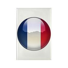 France Flag Jewel Rectangle Magnet (10 pack)