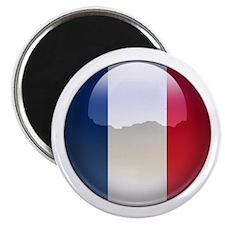 """France Flag Jewel 2.25"""" Magnet (10 pack)"""