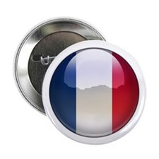 "France Flag Jewel 2.25"" Button (10 pack)"