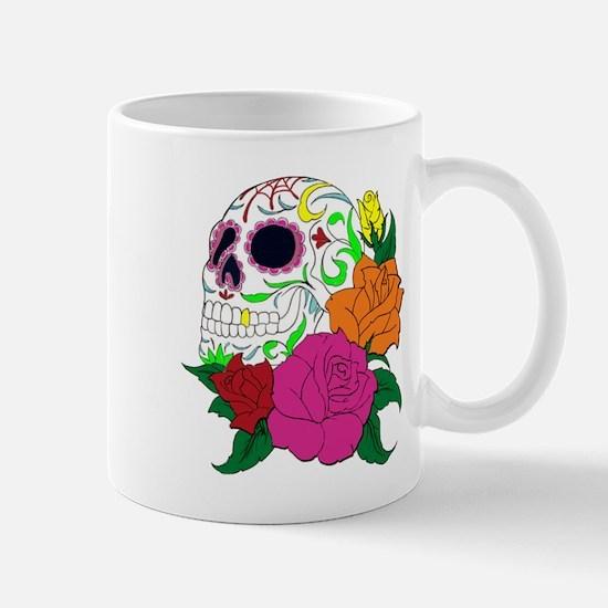 Candy Skull Illustration Mugs