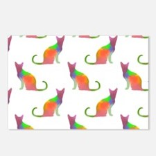 Watercolor Cat Silhouette Postcards (Package of 8)