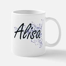 Graphologist Artistic Job Design with Flowers Mugs