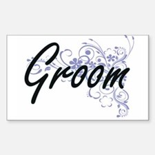Groom Artistic Job Design with Flowers Decal