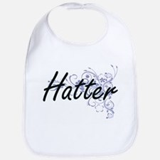 Hatter Artistic Job Design with Flowers Bib