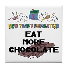 Funny New Year's Resolution Tile Coaster