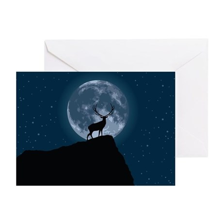 Stag Moon Greeting Cards (Pk of 10)