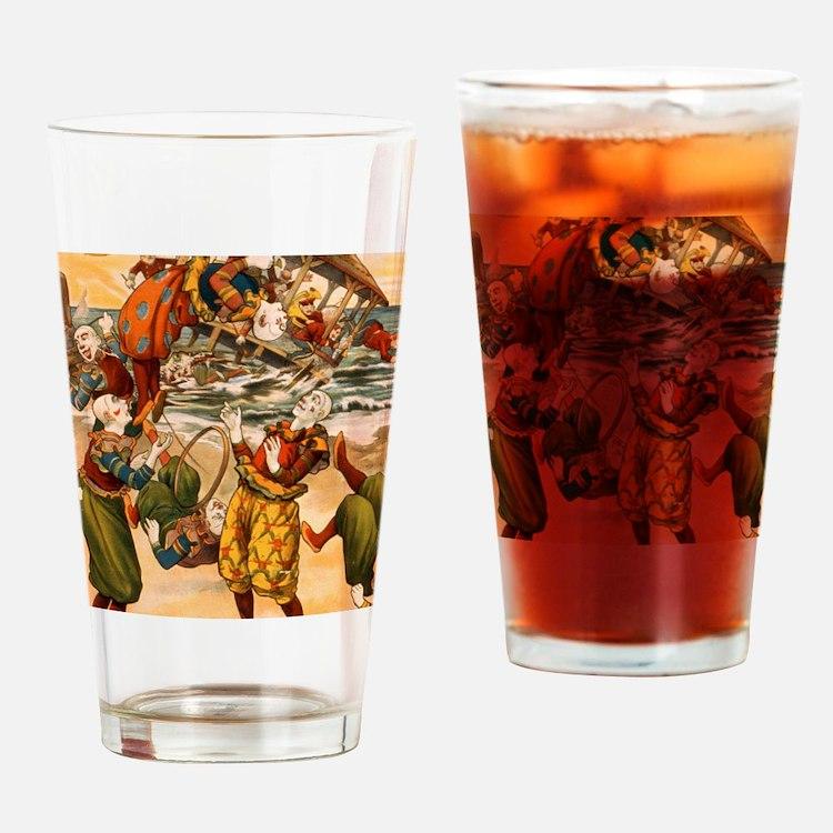 Cute Acrobatic clowns Drinking Glass