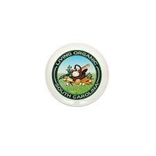 Living Organic South Carolina Mini Button