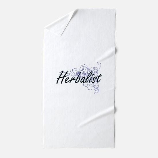 Herbalist Artistic Job Design with Flo Beach Towel
