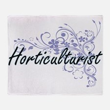 Horticulturist Artistic Job Design w Throw Blanket