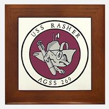 USS Rasher (AGSS 249) Framed Tile