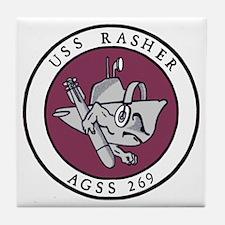 USS Rasher (AGSS 249) Tile Coaster