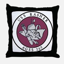 USS Rasher (AGSS 249) Throw Pillow
