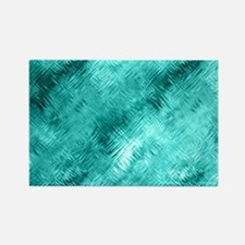 Cyan Crystal Glass Pattern Magnets