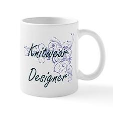 Knitwear Designer Artistic Job Design with Fl Mugs
