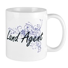 Land Agent Artistic Job Design with Flowers Mugs